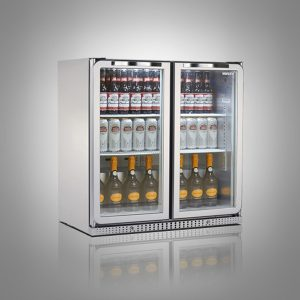Husky PRO Below Zero Double Door Back Bar Cooler