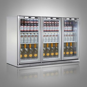 Husky PRO Below Zero Triple Door Back Bar Cooler