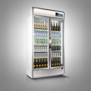 Husky Mega Double Door C10PRO Below Zero Upright Chiller