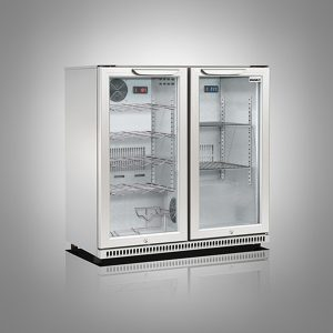 Husky Double Door Back Bar Beer and Wine Combi Cooler