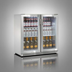 Husky Stainless Steel Double Door Back Bar Cooler