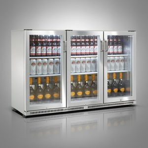 Husky Stainless Steel Triple Door Back Bar Cooler