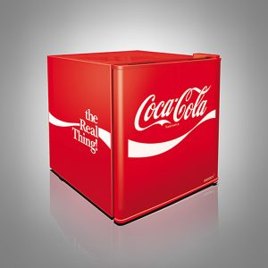 Coca-Cola Solid Door Mini Fridge