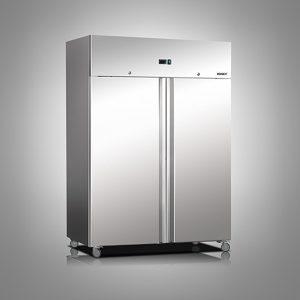 Husky Double Door Stainless Steel Refrigerator
