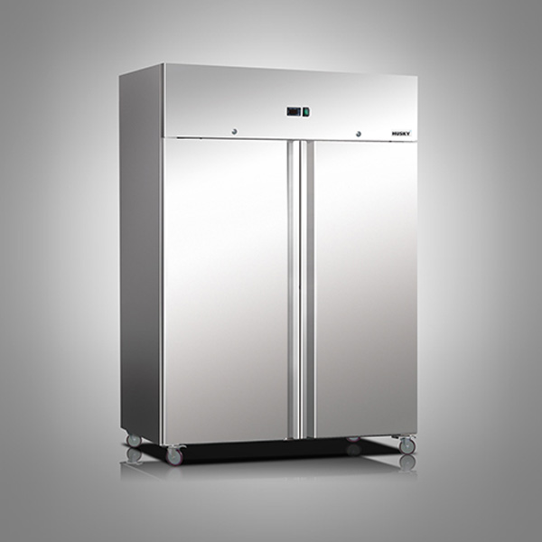 Husky Double Door Stainless Steel Refrigerator