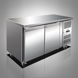 Husky Two Door Stainless Steel Counter Refrigerator