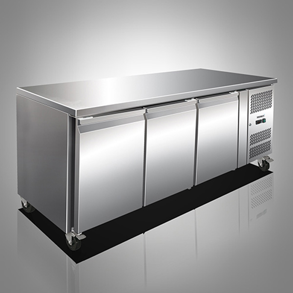 Husky Three Door Stainless Steel Counter Refrigerator