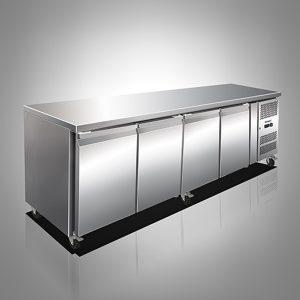 Husky Four Door Stainless Steel Counter Refrigerator