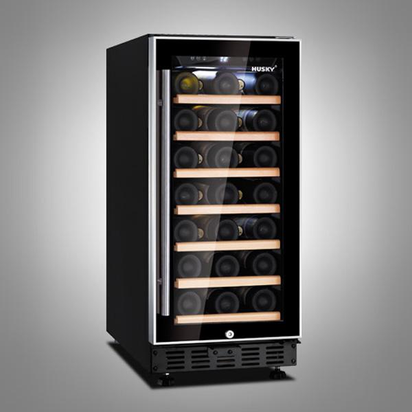 Husky 31 Bottle Single Zone Compact Wine Cooler