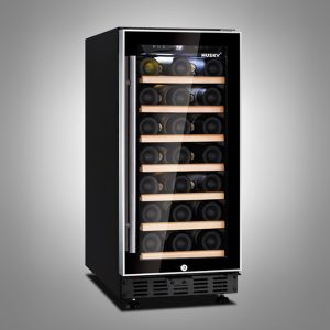 Husky 26 Bottle Dual Zone Compact Wine Cooler