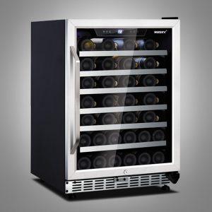 Husky 52 Bottle Stainless Steel Single Zone Wine Cooler