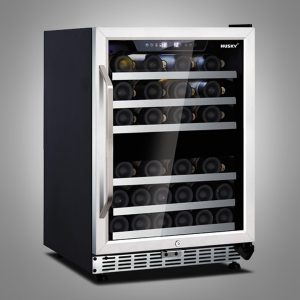 Husky 44 Bottle Stainless Steel Dual Zone Wine Cooler