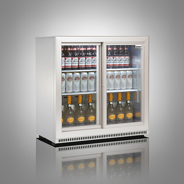 Husky Double Door Back Bar Below Zero Cooler