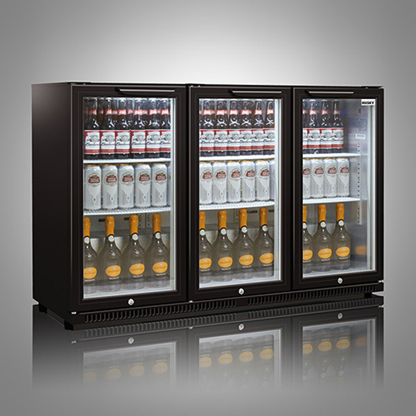 Husky Triple Door Back Bar Below Zero Cooler