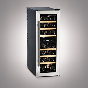 Husky 21 Bottles Dual Zone Slimline Wine Cooler