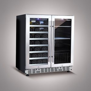 Husky 168 Litre Dual Zone Wine Cooler