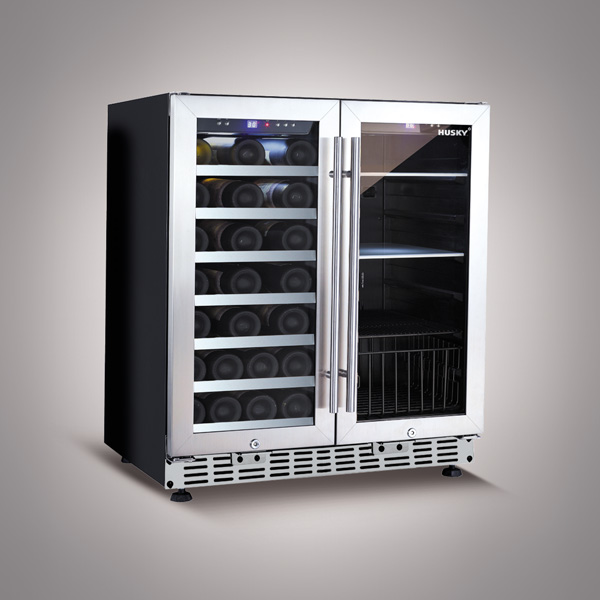 Husky 168 Litre Dual Zone Wine Cooler