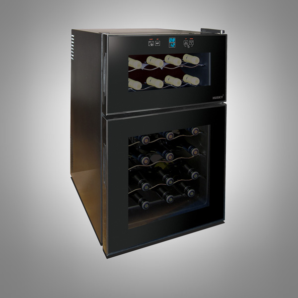 Husky 24 Bottles Dual Zone Undercounter Wine Cooler